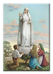 Our Lady of Fatima Magnetic Laminated Plaque