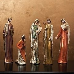 Nativity with silver and gold leaf