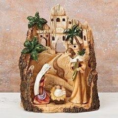 10in Carved Inn Nativity Scene