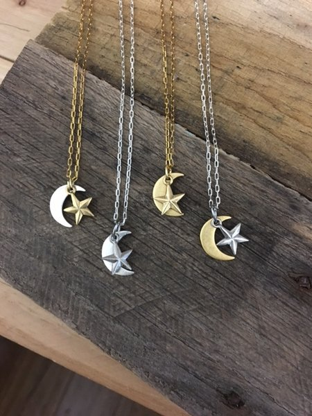 pendant glass wholesale glasstile moon necklace product celestial tile gold small white jewelry