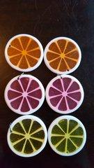 Citrus Slice Pendants 35mm (6pcs)