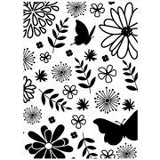"""Floral with Butterfly Embossing Folder (4.25""""x5.75"""") by Darice"""