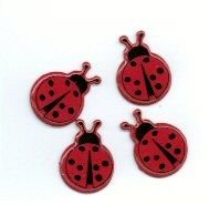 Ladybug brads (Red) by Eyelet Outlet
