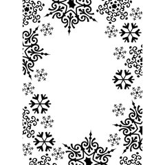 "Snowflake Trim Embossing Folder (4.25""x5.75"") by Darice"
