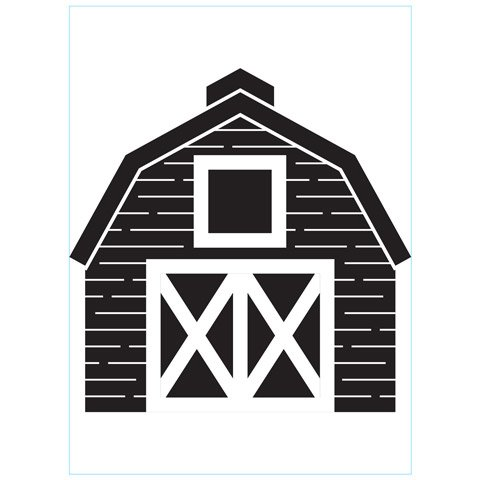 Barn - Darice Embossing Folder - 4.25 x 5.75 inches