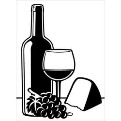 """Wine and Cheese Embossing Folder (4.25""""x5.75"""") by Darice"""
