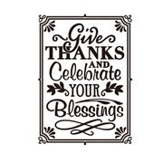 Darice Embossing Folder - Give Thanks & Celebrate - 4.25 x 5.75 inches