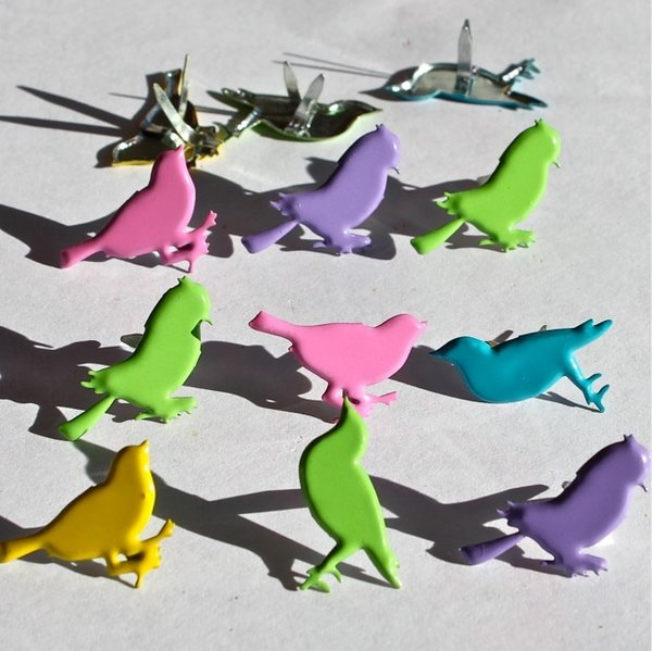 Sitting Bird brads (bright) by Eyelet Outlet