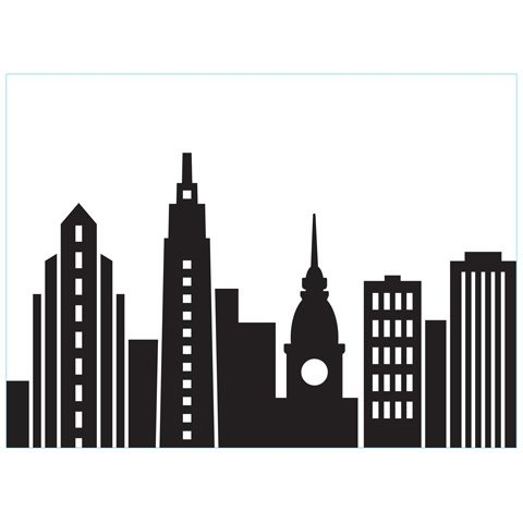 Cityscape Skyline - Darice Embossing Folder - 4.25 x 5.75 inches