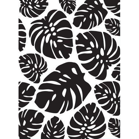 Tropical (Trop) Leaf Background - Darice Embossing Folder - 4.25 x 5.75 inches