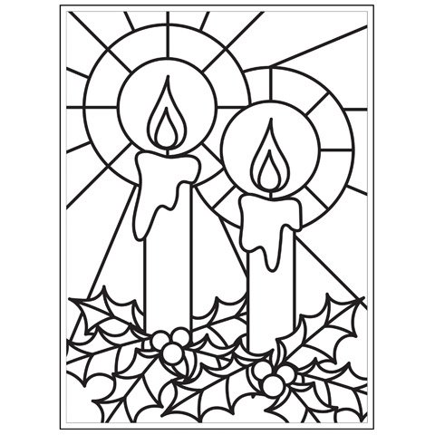Darice Christmas Embossing Folder - Mosaic Candle - 4.25 x 5.75 inches