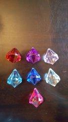 Diamond Gemstone Pendants (w/holes) 30mm (3pcs,1 colour)