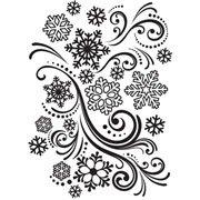 "Snowflake Swirl Embossing Folder (4.25""x5.75"") by Darice"
