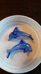 Blue Dolphin Pendants 50mm (8pcs)