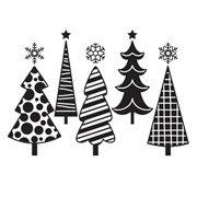 Darice Embossing Folder - Fun Christmas Trees - 4.25 x 5.75 inches