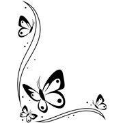 "Butterflies in Corner Embossing Folder (4.25""x5.75"") by Darice"