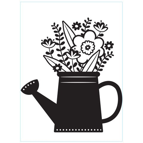 Flowers in a Water Can - Darice Embossing Folder - 4.25 x 5.75 inches