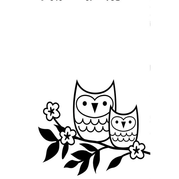"""Owls on a Twig Doily (4.25""""x5.75"""") embossing folder by Darice"""