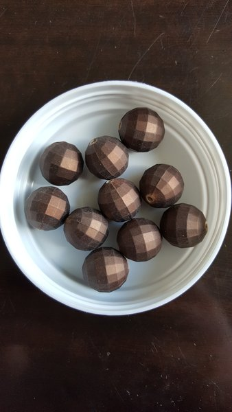 Coffee Faceted DiscoBead 20mm, 10pcs per pack