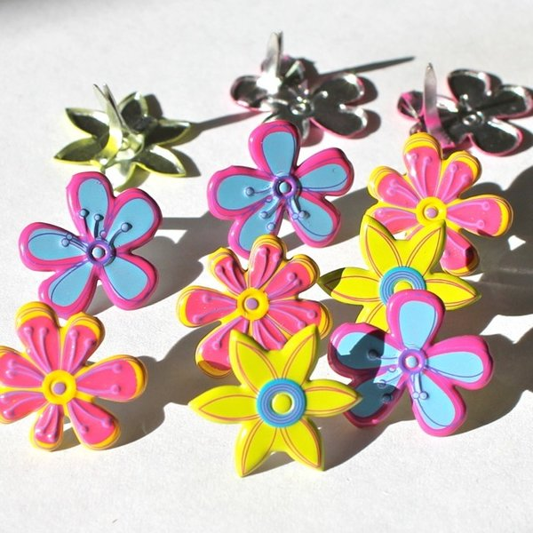 Fresh Flower brads (bright) by Eyelet Outlet