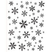 Snowflake Background - Darice Embossing Folder - 4.25 x 5.75 inches