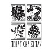 "Darice Christmas Embossing Folder - Merry Christmas Square Collage -4.25""x5.75"""
