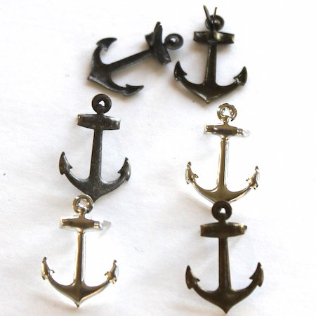 Anchor brads (metallic) by Eyelet Outlet