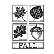 Darice Embossing Folder - Fall Square Collage - 4.25 x 5.75 inches