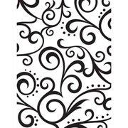 "Scrolls Background (4.25""x5.75"") embossing folder by Darice"
