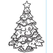 """Christmas Tree Decorated Embossing Folder (4.25""""x5.75"""") by Darice"""