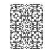 Darice Embossing Folder - Geometric Octagon Pattern - 4.25 x 5.75 inches