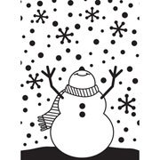"Snowman Arms Up Embossing Folder (4.25""x5.75"") by Darice"