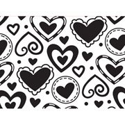 """Layered Heart Background (4.25""""x5.75"""") embossing folder by Darice"""