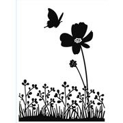 """Butterfly on Flower Embossing Folder (4.25""""x5.75"""") by Darice"""