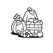 Darice Embossing Folder - Pumpkin Basket - 4.25 x 5.75 inches