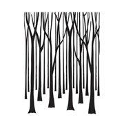 Darice Embossing Folder - Thin Tree Trunks - 4.25 x 5.75 inches