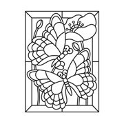 Darice Embossing Folder - Butterfly Mosaic - 4.25 x 5.75 inches