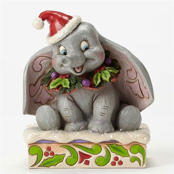 "Jim Shore Disney Traditions ""Sweet Snow Fall"" Dumbo the Elephant"
