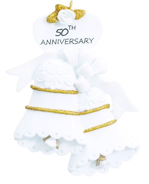 50th ANNIVERSARY PERSONALIZED ORNAMENT