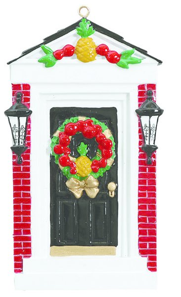 COLONIAL DOOR PERSONALIZED ORNAMENT