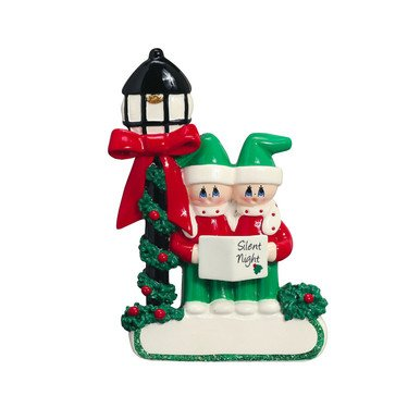 CAROLER COUPLE PERSONIALIZED ORNAMENT