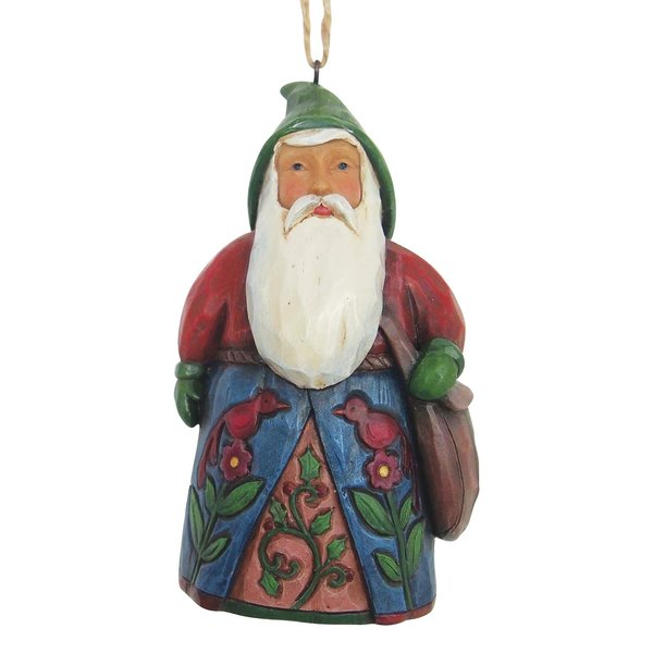 Jim Shore Folklore Santa Ornament