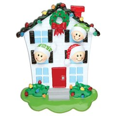HOUSE FAMILY OF 3 PERSONALIZED ORNAMENT