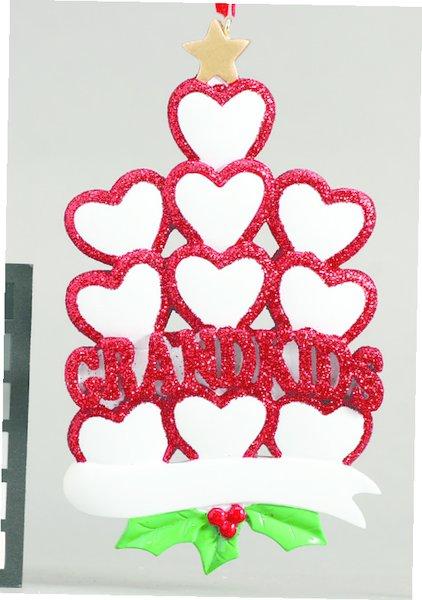 GRANDKIDS HEARTS 10 PERSONALIZED ORNAMENT