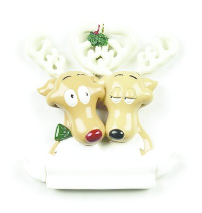REINDEER COUPLE PERSONALIZED ORNAMENT