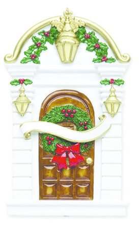 HOLLY DOOR PERSONALZED ORNAMENT