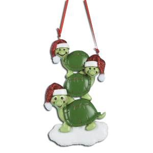 TURTLES FAMILY OF 3 PERSONALIZED ORNAMENT