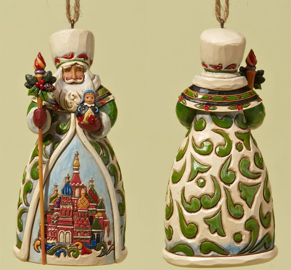 Jim Shore Russian Santa Ornament