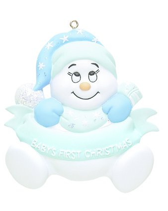 SNOWBABY BLUE PERSONALIZED ORNAMENT