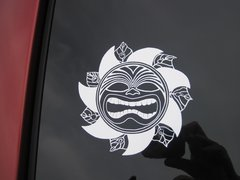 Tiki Republic white vinyl decal